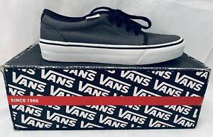 Vans Vulcanised Pewter/Black Shoes U.S Size Mens 4.5 Womens 6 **NEW**