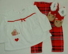Gymboree Girl Snow Cozy 3pc Swing Top Plaid Pants 12-18M Boots 12M