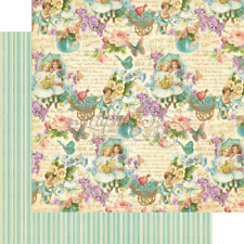 Graphic 45, 2 sheets, sweet sentiments Collection all my love 12 x12 paper