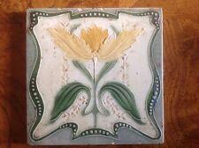Antique vintage Art nouveau majolica tile