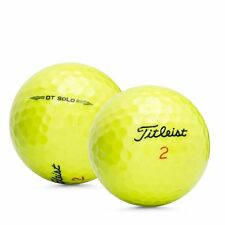 12 Titleist DT SoLo Yellow Mint Used Recycled Golf Balls AAAAA
