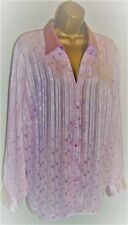 LADIES MARKS AND SPENCER BLOUSE SIZE 24, Pink Silky Long Sleeved Blouse Top