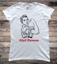 Feminist Rosie The Riveter Girl Power Slogan Ladies T-Shirt