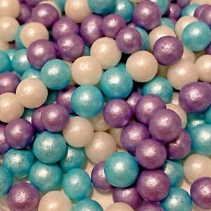 ICE MIX FROZEN EDIBLE LARGE PEARLS SPRINKLES SUGAR BALLS CAKE DECORATIONS 7mm
