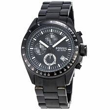 Fossil Decker CH2601P Chronograph Black Stainless Steel Quartz Men's Watch