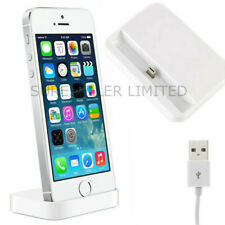 2xWhite Charging Dock Docking Station Charger Cable For iPhone Ipad Mini 5 6 7 8