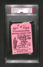 1964 PGA CHAMPIONSHIP TICKET Bobby Nichols WINNER AUTOGRAPHED SIGNED PSA/DNA 10