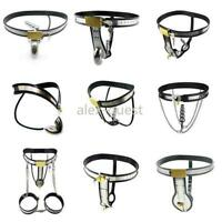 2019 10 Design Medical Quality Stainless Steel Chastity Device Cage Belt Bondage