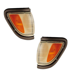 Signal Side Marker Lights Pair Set for 95-97 Toyota Tacoma 4WD (Black)