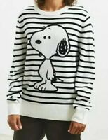 Urban Outfitters Striped Snoopy Sweater Men's Size Small NWOT