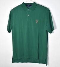 SMATHERS & BRANSON Polo Shirt Green With Embroidered Duck Mens Small