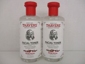 2 THAYERS FACIAL TONER WITCH HAZEL ROSE PETAL 12 OZ EACH BB 4155