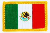MEXICO FLAG PATCH BADGE IRON ON NEW EMBROIDERED