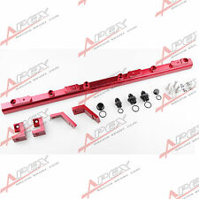 FIT FOR FORD BA - BF 4.0L 6Cyl BILLET EFI FUEL RAIL KITS RED