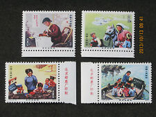 (TYstamps)...1975 PRC China, T9 (1-set) Rural Women Teachers, Sc# 1218-1221, MNH