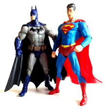 "UNIVERSO DC comics Arkham City Batman & Superman giocattolo 6"" FIGURE SET RARO!"