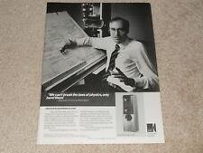 KEF Reference Model 104/2 Speaker Ad, 1989, Article,1pg