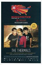 THE THERMALS 2013 Gig POSTER MFNW Portland Oregon Concert Musicfest NW