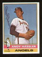 Andy Hassler #207 signed autograph auto 1976 Topps Baseball Trading Card