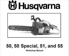 Husqvarna Chainsaw 50 50 Special 51 55 Service Shop Manual