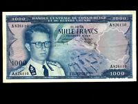 Belgian Congo:P-35,1000 Francs, 1958 * King Baudouin *