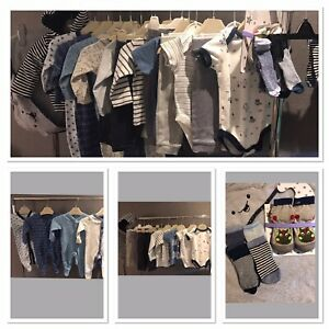 💙Baby Boy Blue, White, Grey, Navy Clothes Bundle Age: 3-6 Months💙