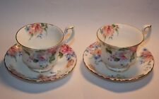 Beatrice Deux Tasses Et Soucoupes ROYAL ALBERT BONE CHINA ENGLAND