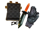 """13"""" Serrated Metal Detecting Edge Digger, Detecting Gloves, Clip, Finds Box"""