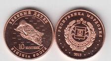 MORDOVIA 10 Kopeek 2013, Bird, unusual coinage