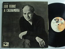 LEO FERRE A L'Alhambra  LP  BARCLAY Flat Edge FRENCH IMPORT