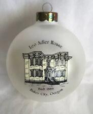 Treasured Scenes Christmas Ornament Leo Adler House Baker City, Or. 4th Edition