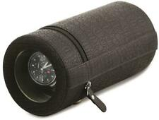 Rotations Black Croco-Style Texture Faux Leather Travel Watch Winder
