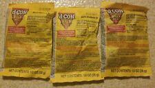 (3) d-Con Mouse Bait Pellets II 1 OZ  28 Gram Bait Place Packs new old stock