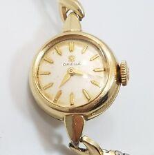 Vintage 14k Gold Filled Omega Ladies Circle Wrist Watch