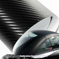 "12"" x 50 Flexible Carbon Fiber Vinyl Wrap Sheet Film Adhesive Backing For Nissan"