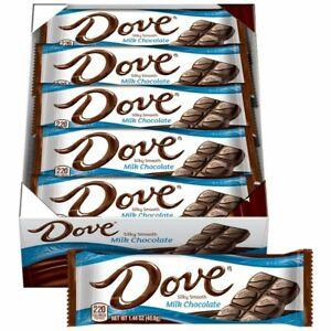 Dove Milk Chocolate Single Size Candy Bars 1.44 oz (18 Count Box)
