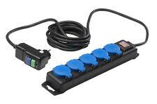 Steckdosenleiste mit FI Personenschutz Schalter 4,5 Meter Kabel Profi AS Schwabe