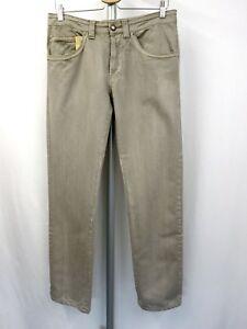 ERMANNO SCERVINO Designer Denim Jeans Gr.48 Hose 5 Pocket Style Pants Beige