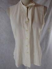 Emporio Armani White Silk Top Est Size 44