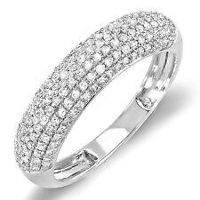 0.50 Carat (ctw) 14k White Gold Round Diamond Ladies Anniversary Wedding Band