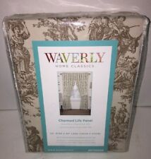 """NEW WAVERLY HOME CLASSICS CHARMED LIFE Toile Brown/Ivory Panel Curtain-52"""" X 84"""""""