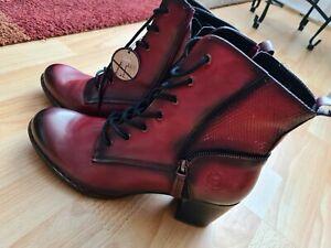 bugatti Stiefel Damen Rot NEU Gr.42