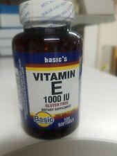 Vitamin E 1000 IU 100 softgels