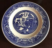 """Willow Ware By Royal China Royal Ironstone Blue  Asian Theme 10"""" Dinner Plate"""
