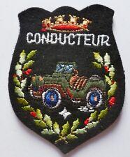 Insigne Patch CONDUCTEUR DE JEEP Armée Légion écusson vintage 1980s ORIGINAL