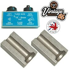 """Tubería de freno 5/16"""" SAE 8mm SAE llameantes FLARE herramienta Punch & Die Conjunto bengalas de doble"""