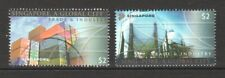 SINGAPORE 2004 GLOBAL CITY (WORLD STAMP CHAMPIONSHIP) COMP. SET OF 2 STAMPS USED