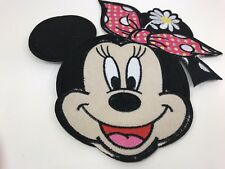 "Sale!....7"" X 8"" Large Minnie Mouse Head For Book bags Etc..Iron On Lisa"