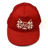 Vintage Enjoy Coca Cola Trucker Hat Cap Snapback Mesh Foam Red