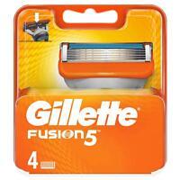 Gillette Fusion 5 Lamette di Ricambio per Rasoio Confezione da 4Lamette